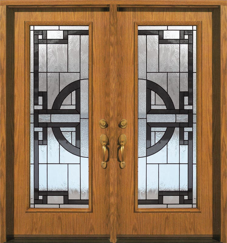 Decorative Wrought Iron Door Inserts Wood Door With Glass