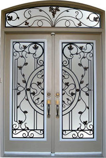 Decorative Wrought Iron Front Doors Inserts 1 800 801