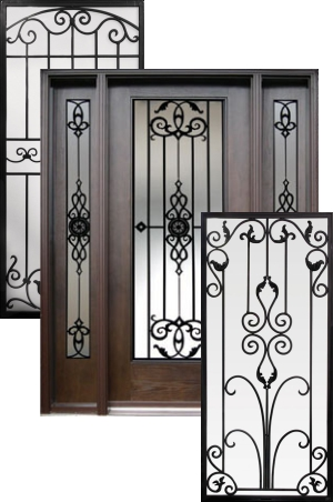 Wrought Iron Door Insert  sc 1 st  Hollywood Door Centre & Decorative Wrought Iron Front Doors Inserts - 1-800-801-0551 - Best ...